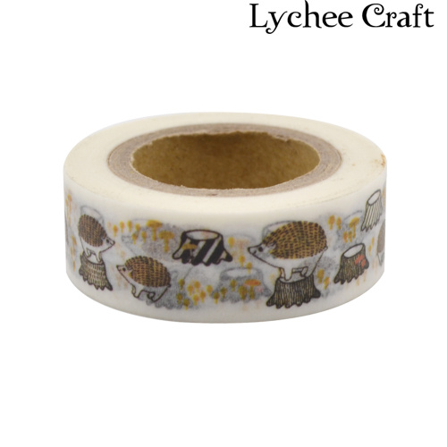 Lychee Craft Paper Craft Cute Hedgehog Washi Tape DIY Scrapbooking Decor Art Wall Paper Sticker Gift Packing Decorative<br><br>Aliexpress