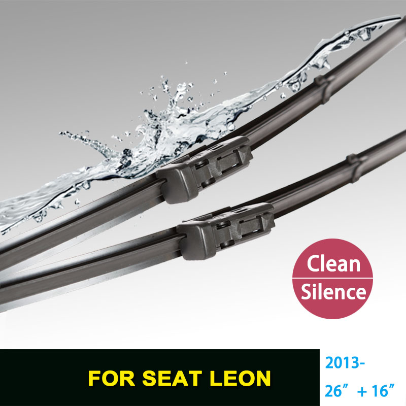 "Wiper blades for SEAT Leon (2013 onwards) 26""+16"" fit push button type wiper arms only HY-075POLO(China (Mainland))"