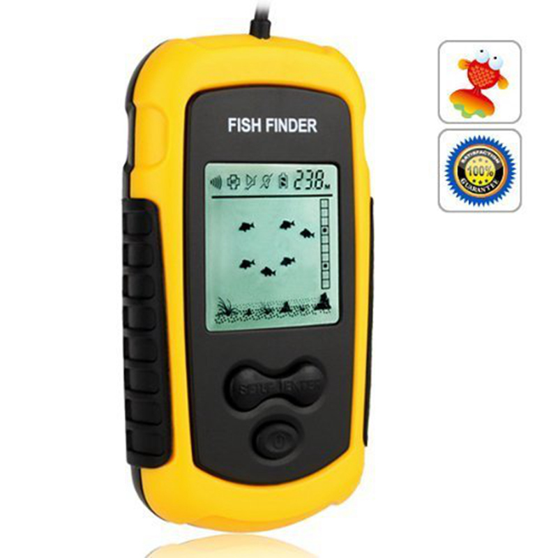 Ulincos us08 portable sonar echo sounder fish finder 100m for Fish finder depth finder