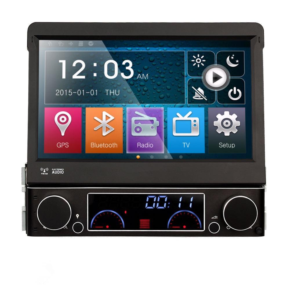 Single 1 Din 7 Universal Touch screen Car DVD Player With GPS Navi Autoradio Stereo Car Audio  TV Bluetooth<br><br>Aliexpress