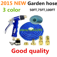 NEW Good quality Magic flexible Expandable Garden Hose reels +spray Gun Garden Water Hose Car watering connector Free shipping(China (Mainland))