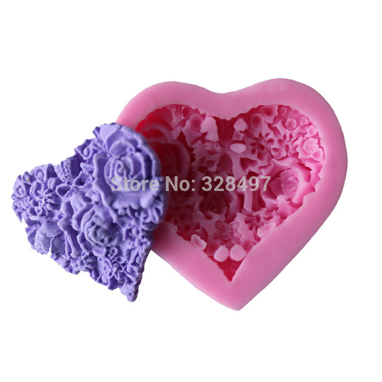 1PCS Small Size Love Rose 3D Silicone Cake,Cupcake Mold, For Jelly,Candy Decorating Bakeware Soap Moulds C108(China (Mainland))