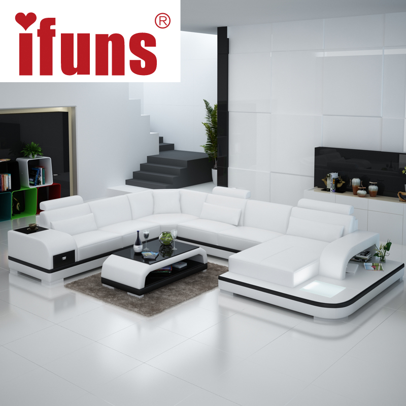 Popular White Leather Living Room Furniture Sets Buy Cheap