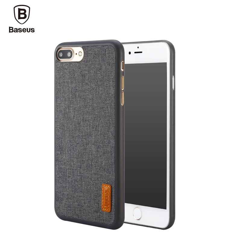 Baseus Phone Bag Case For iPhone 7 / 7 Plus Artistical Simple Stylish Grain Fabric Protective Mobile Phone Back Cover Case(China (Mainland))