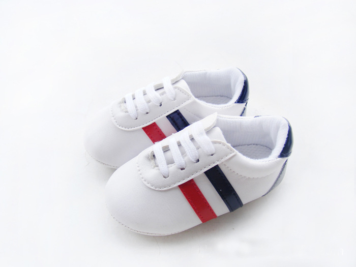 Baby Boys Girls Soft Sole Crib Shoes PU Leather Anti-slip Shoes Toddler Sneakers