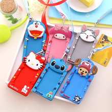 Cartoon lanyard Bus card cover Silicone Card Holder The silicone neck lanyard Card covering party invitation card covering FF-2(China (Mainland))