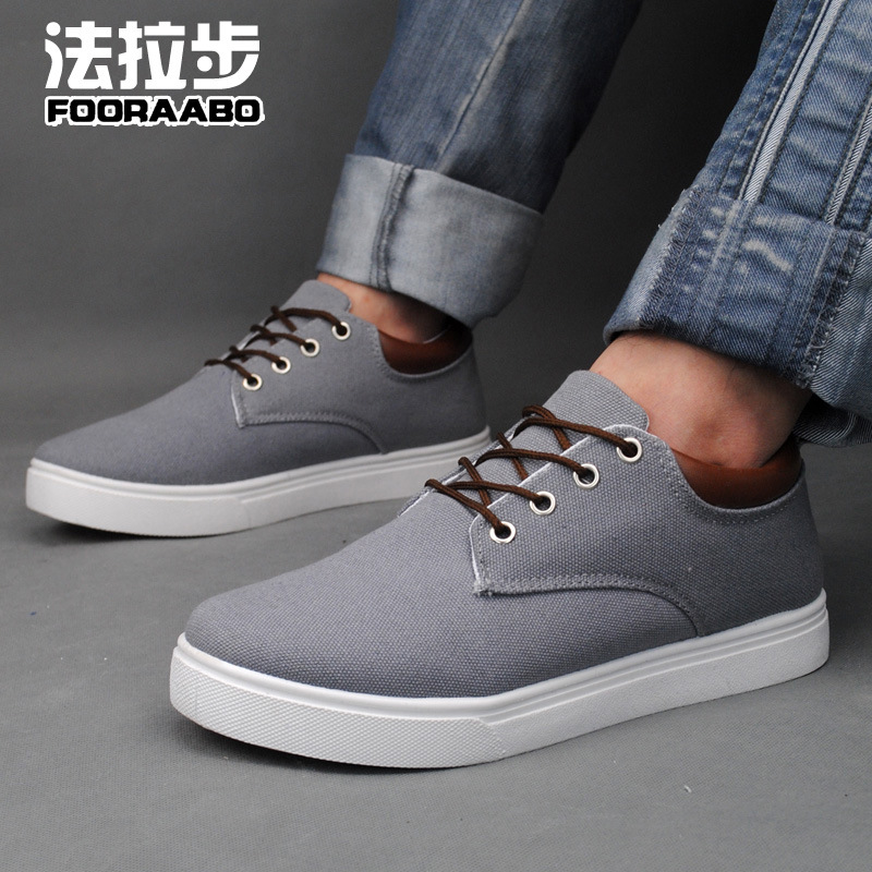 Autumn men's canvas shoes Korean 0aidas increased in's casual shoes manufacturers selling YF02(China (Mainland))