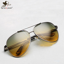 2015 Top quality Pilot sunglasses Men's night vision driving polarized sunglasses HD UV400 outdoor multifunction sport Glasses