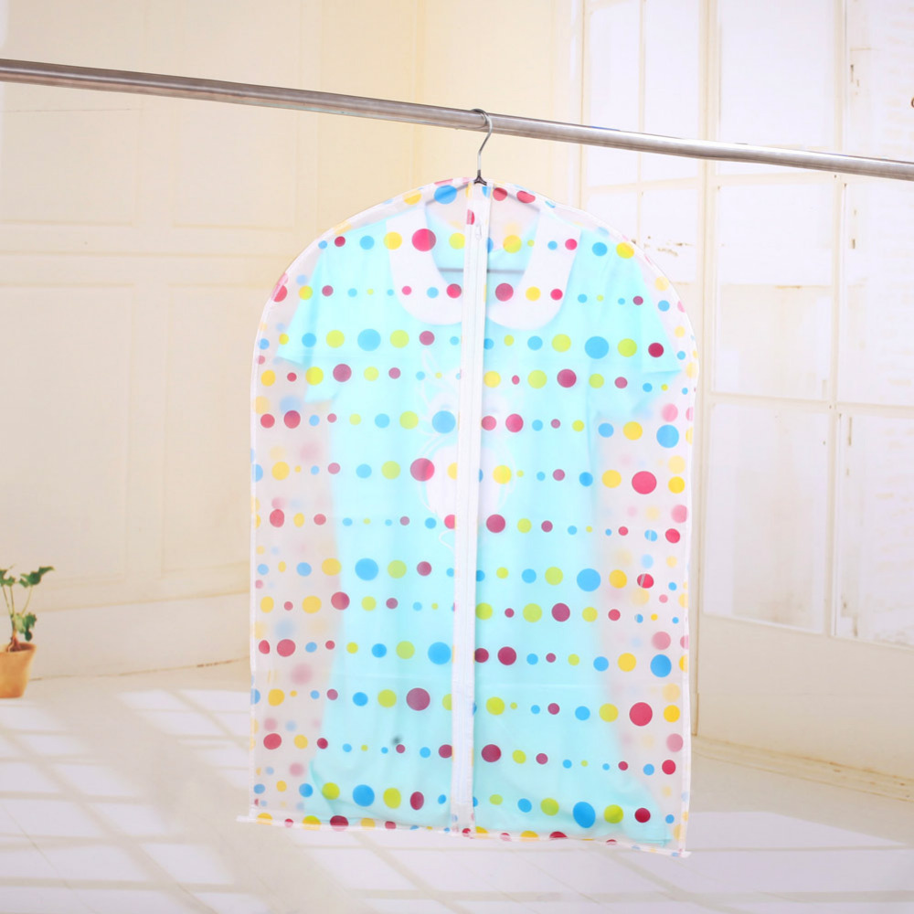 High quality Translucent Dot Clothes Dust Cover Washable Eco-Friendly Tidy Clothing Storage Bag for Suit Overcoat Jacket(China (Mainland))