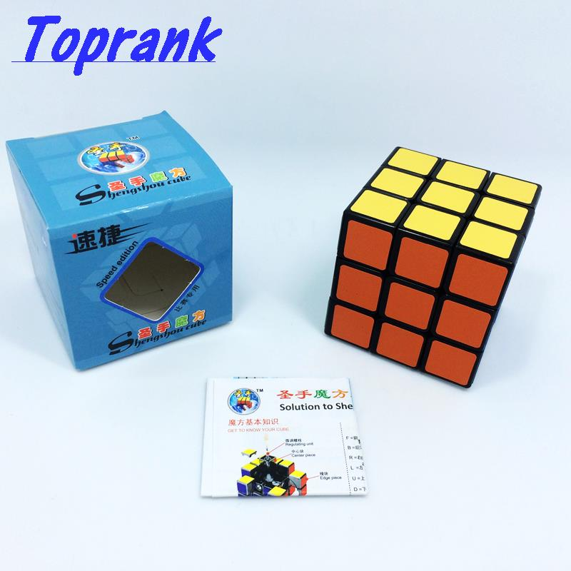 Discounts SHENGSHOU SUJIE 3X3X3 magic cube toys 5.7cm speed puzzle cube with scrub pvc sticker IQ Cube toys educational gift(China (Mainland))