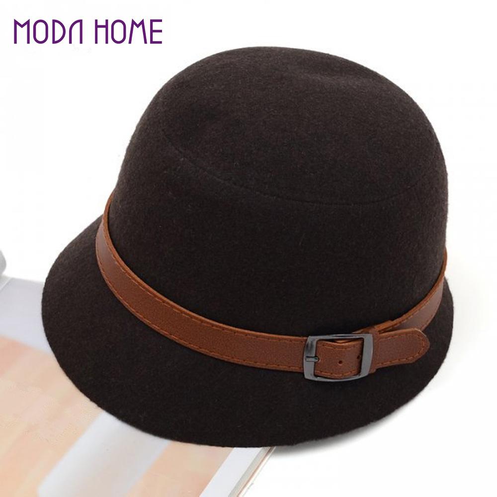 Fashion Vintage Women Ladies Fedora Dome Felt Hat Headwear Bucket Hat Top Quality Chapeu Feminino Gorro Sombreros Women(China (Mainland))