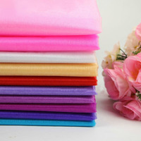 Promotion 0.72*10M 18 Colors for Chose Sheer Mirror Organza Stiff Fabric For Wedding Drape Decoration Wholesale