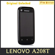 Original Lenovo A208T 3.5″ inch Android 2.3 Smart Mobile Phone Single Core 1.0GHz GSM Cell Phone 1300mAh Battery
