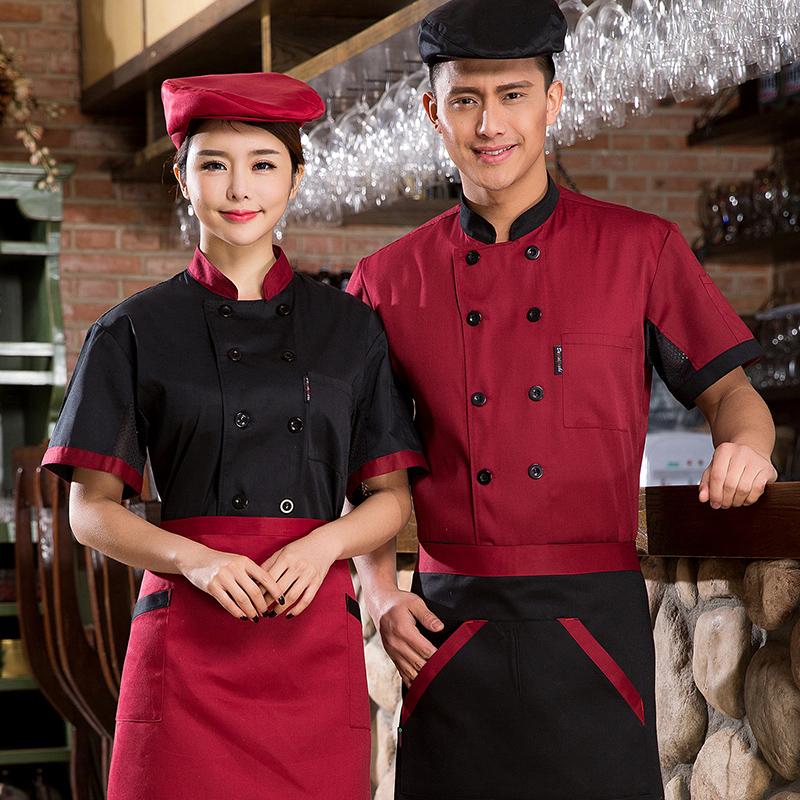 Cook uniform Veste de cuisine Health Services Chef service short sleeve(China (Mainland))