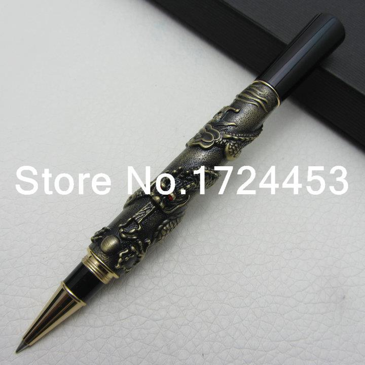 Jinhao Chinese Dragon antique bronze Heavy Advanced  rollerball pen with Original Gift Box J1168