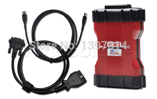 free shipping VCM2 Diagnostic Scanner For Ford VCM II IDS Support 2014 Ford Vehicles IDS VCM 2 OBD2 Scanner with plastic Box(China (Mainland))