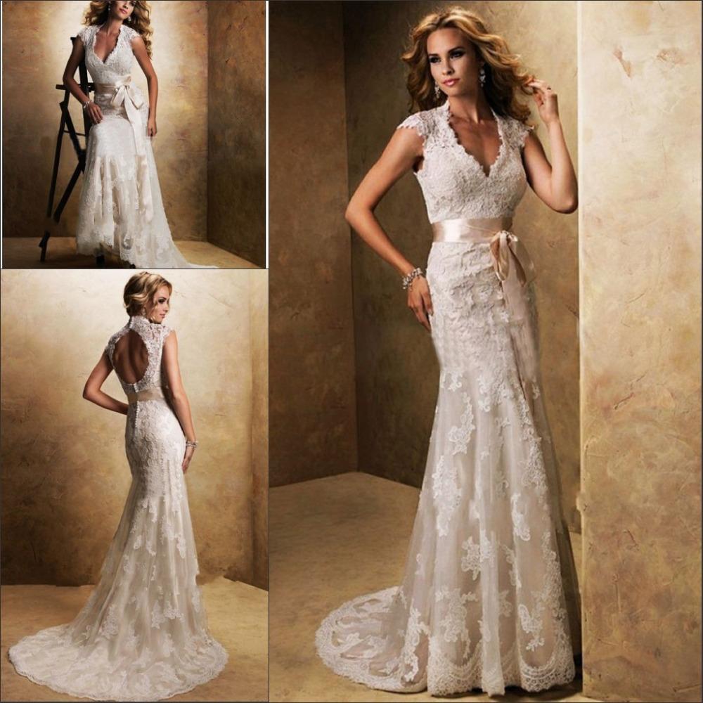 High quality lace wedding dress 2015 sheath backless for Backless sheath wedding dresses
