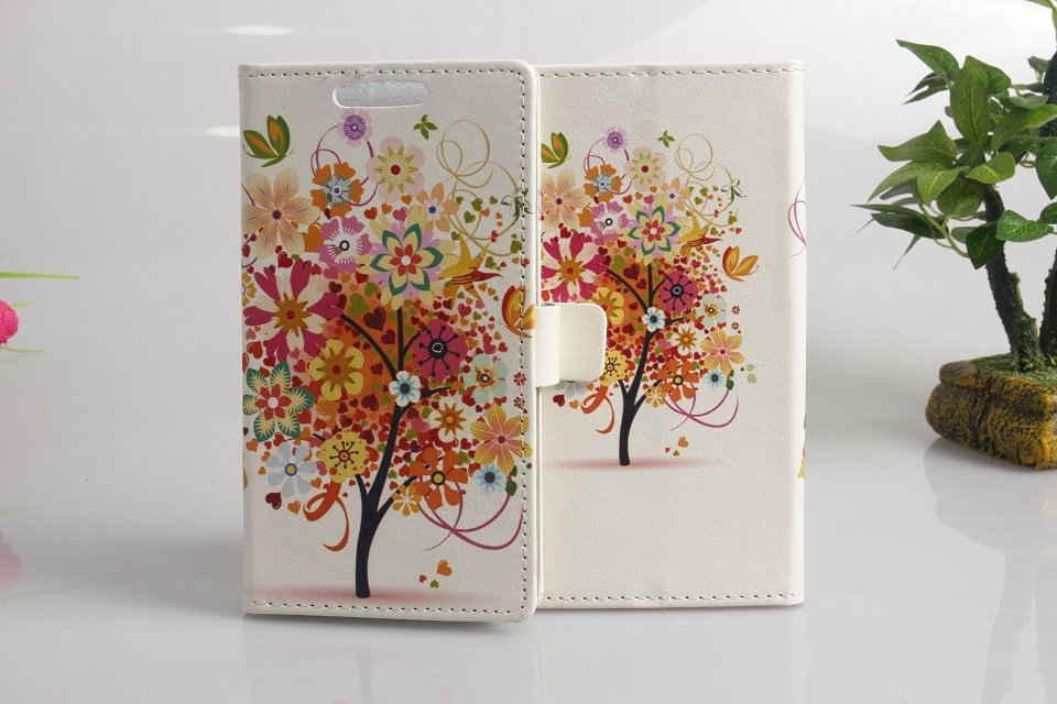 Warm summer butterfly flying scene oil painting style leather phone covers for Huawei Ascend Honor series cases with card slots(China (Mainland))