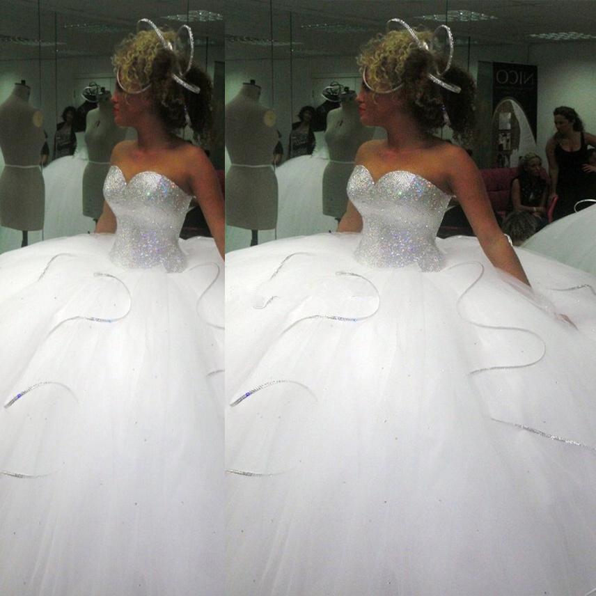 Achetez en gros big puffy robe de mari e en ligne des for Plus la taille robe de mariage illusion