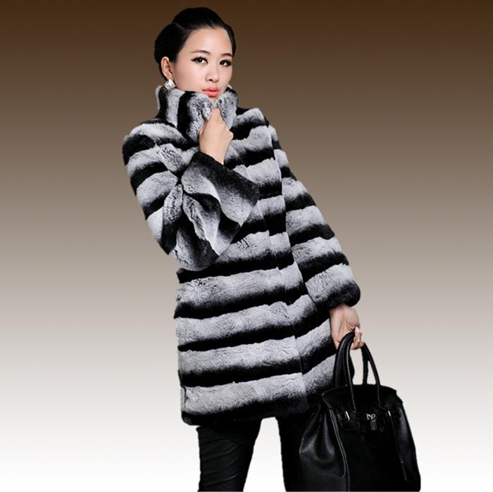 Chinchilla Rabbit Fur Coat Rabbit Hair Chinchilla Fur