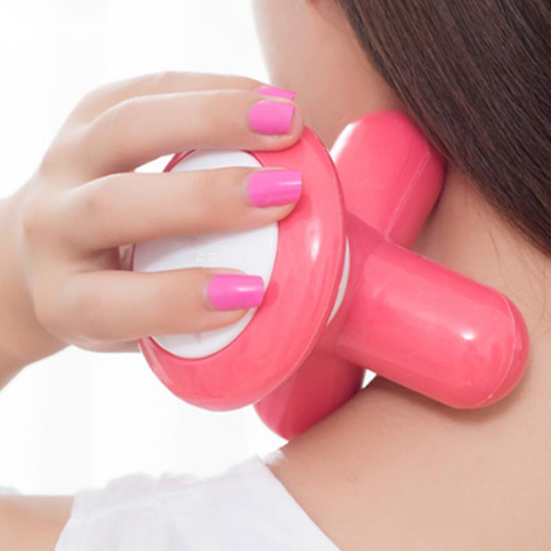 Mini Electric Handled Wave Vibrating Massager USB Battery Full Body Massager Portable Multiple Colors Massaging Machine(China (Mainland))