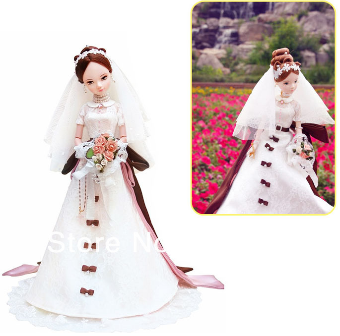 29CM Tall Kurhn Bobby Doll Chinese Bride with Beautiful wedding dress Top Grade Gift Box, Joint Body Model Toy<br><br>Aliexpress