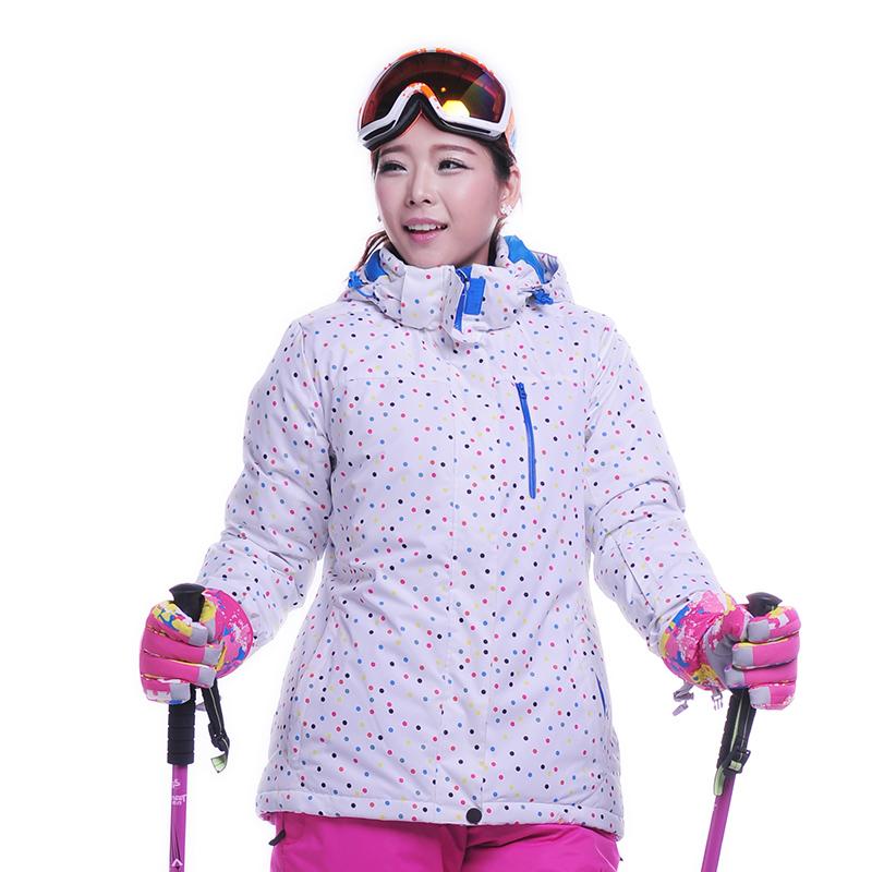 Фотография Dropshipping Ourdoor New Brand Waterproof Windproof Ski Jacket Winter Sports Skiing Camping Hiking Snowboard ski coat women