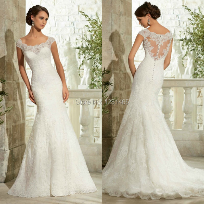 Designer lace wedding dresses vintage high cut wedding for Design wedding dress online