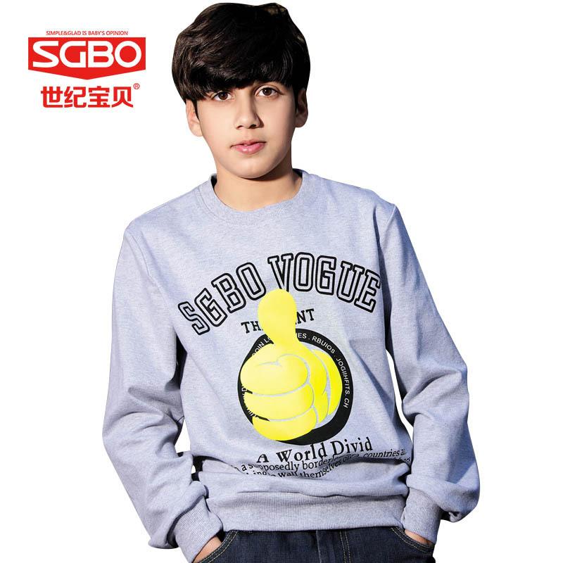 Thumbs Up Cartoon Printed Sweatshirt For Boys 11 12 13 14 Years Kids Sport Swearshirt Fashion Children Clothing Brands 6C3018(China (Mainland))