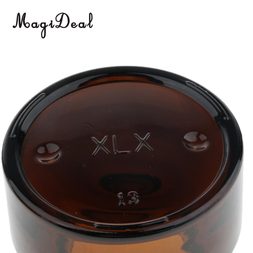 6pcs Glass Empty Container Jar with Black Screw Top Lid for Cosmetic Makeup Sample Lotion Cream Lip Balm Nail Arts Eyeshadow