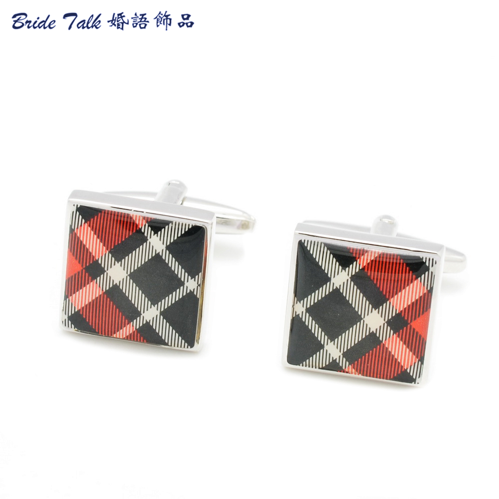 New 2015 Fashion Men s Gift Cuff Links Cufflinks Present Wedding Party Square Enamel font b