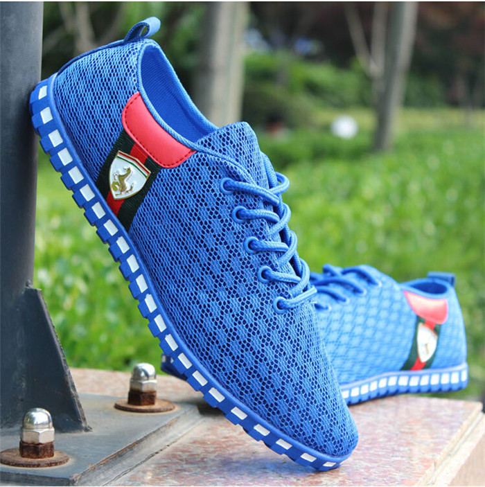 2015 New Spring Summer Fashion Men Light Mesh Sports Running Shoes Male Breathable Casual Flat Shoes Men Net Sneakers 39-46 Size(China (Mainland))
