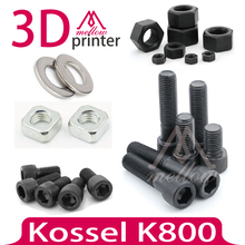 DIY Kossel K800 3D Printer Nuts & Bolts Screw Full Kit,machine screw hex nut lock nut