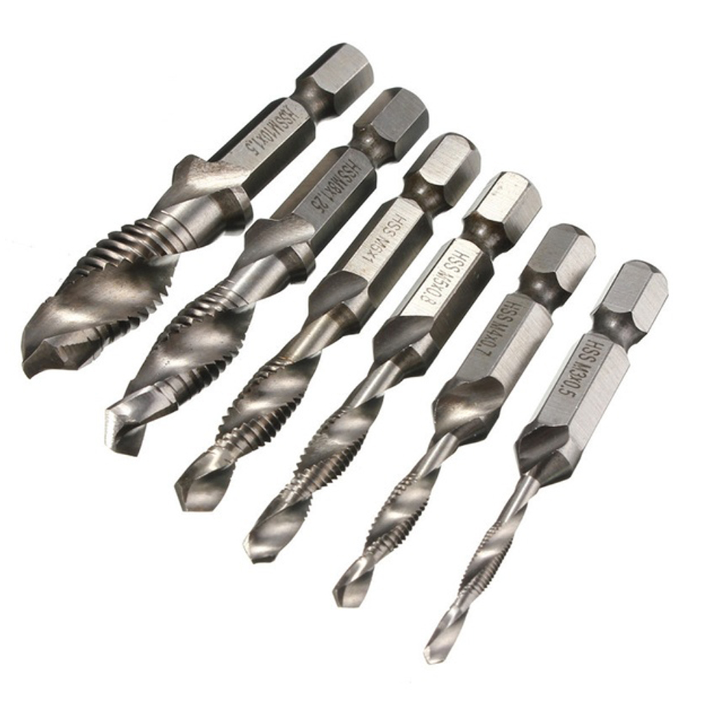 6pcs Hex Shank set Twist Drill portabrocas hexagonal hss mini drill bit set for woodworking Rotary Tools hex can wood drill(China (Mainland))