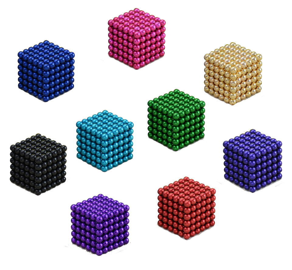 5mm 216 pcs Magnetic Neo Cube Balls Neodymium Cube with Metal Box(China (Mainland))