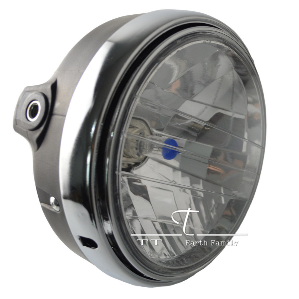 Motorcycle Round Chrome Halogen Headlight Lamp For Honda CB400 CB500 CB1300 Hornet250 Hornet600 Hornet900 VTEC VTR250(China (Mainland))