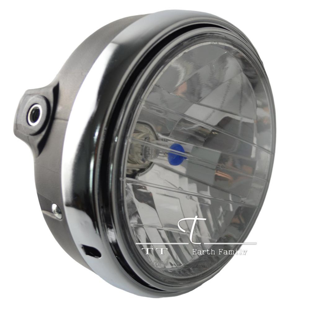 Motorcycle Round Chrome Halogen Headlight Lamp For Honda CB400 CB500 CB1300 Hornet250 Hornet600 Hornet900 VTEC VTR250(China (Mainland))