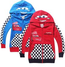 2015 New Pixar Cars Children Boys Autumn Hoodies Jacket Sweatershirt Clothes For Kids Free Shipping Retail(China (Mainland))