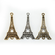 15pcs Antique Silver/Golden/Bronze Zinc Alloy Eiffel Tower Charms Connectors