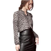 new autumn long sleeve shirts blusas femininas 2015 fashion leopard blouse women Europe&America style female shirt casual tops(China (Mainland))