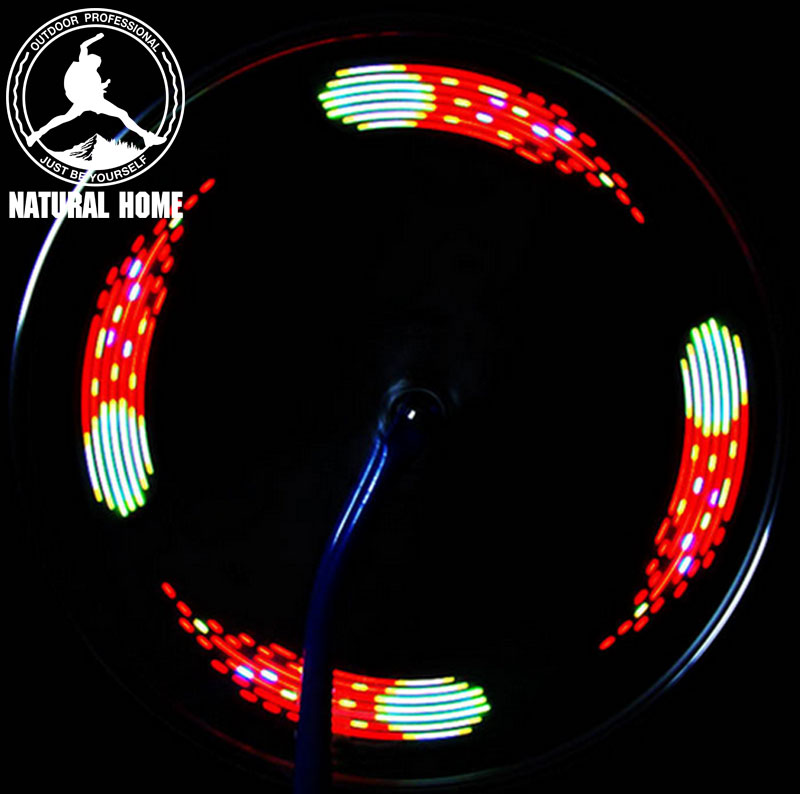 [NaturalHome] Brand New Arrival Cycling 7 LED Motorcycle Cycling Bicycle Bike Wheel Signal Tire Spoke Lights Bicycle Wheel Light(China (Mainland))