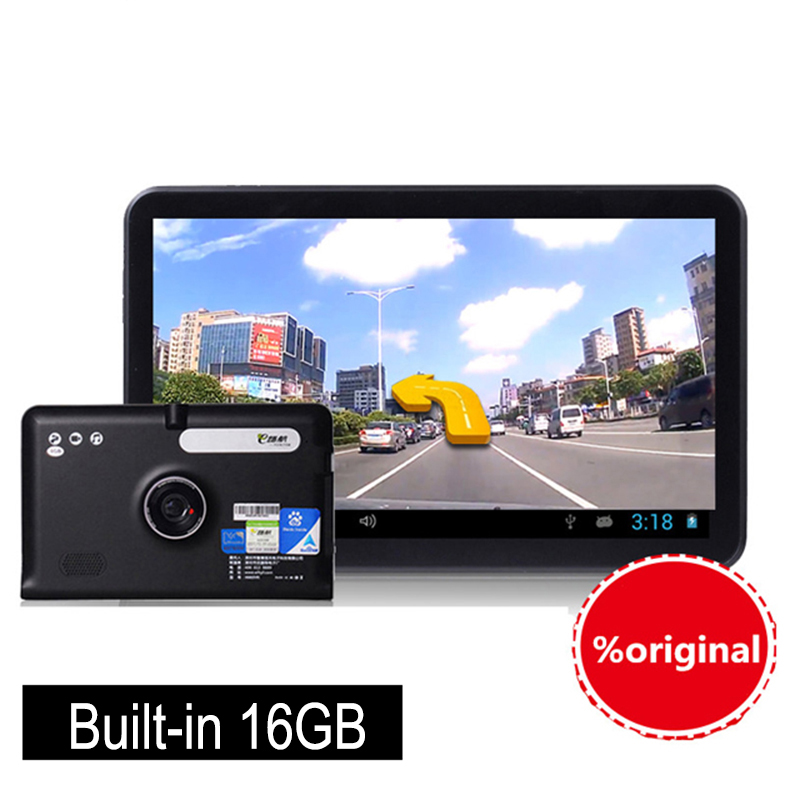 New full HD 1080P 7 inch Touch Screen Android 4.4.2 Car DVR GPS Navigation Wifi FM Parking Dash camera DDR3 512M 16GB free Maps(China (Mainland))