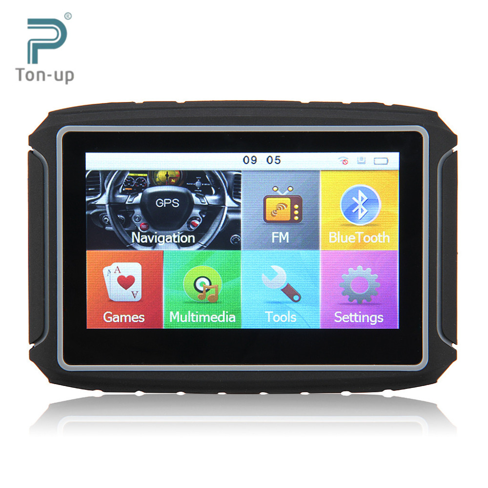 """Clear Stock Excelvan 8GB 4.3"""" TFT Touch Screen Motorcycle Car GPS Navigation Waterproof Bluetooth NAV Map Free(China (Mainland))"""