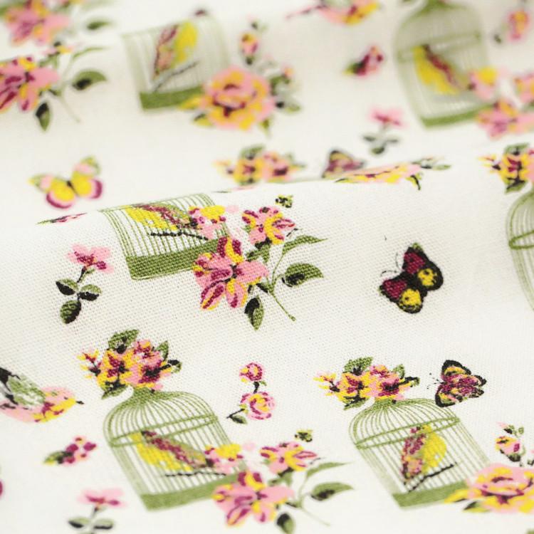 1pcs DIY Handmade Patchwork Fluid Fabric Table Cloth Sofa Butterfly Bird Cage Curtain Cloth 50*160cm Free Shipping # JC123(China (Mainland))