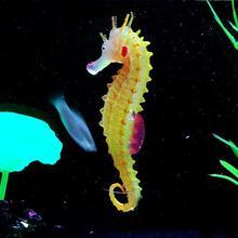 Environmental and friendly Luminous Sea Horse Hippocampus Aquarium silicone Fish Tank Decoration 100% brand new G01394(China (Mainland))