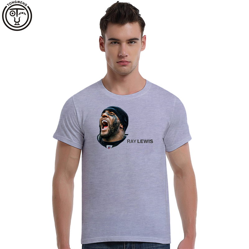 Top Quality Tee Shirt Raymond Ray Lewis American FootballSummer Men's Cotton Short Sleeve T-shirt Fashion O-neck Casual 3D print(China (Mainland))
