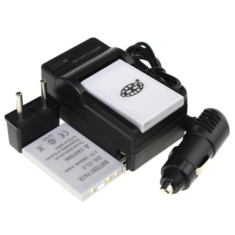 Гаджет  Tianfen 2Pcs EN-EL5 ENEL5 EN EL5 LI-ION 3.7V Camera Battery + Charger + Car Charger Free Plug For Nikon CoolPix 3700 4200 5200 None Электротехническое оборудование и материалы