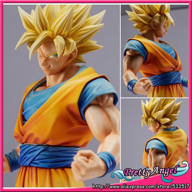 Original Banpresto Dragon Ball Z/Kai King of Coloring Master Stars Piece Super Saiyan Son Gokou Goku Action Figure(China (Mainland))