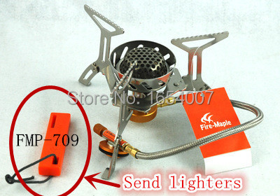 New Arrival Fire Maple FMS-121 Camping Windproof Gas Stove Gift Lighters FMP-709 Outdoor Cooking Stove 2900W 305g(China (Mainland))