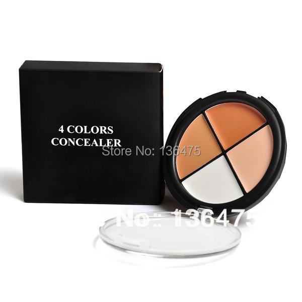 Hot Sale 4 Color Pro Cream Camo Quad Dark Makeup Concealer Palette Skin Tones 3# 22615(China (Mainland))